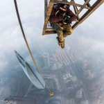 Escalando en secreto la torre de Shanghai de 650 metros