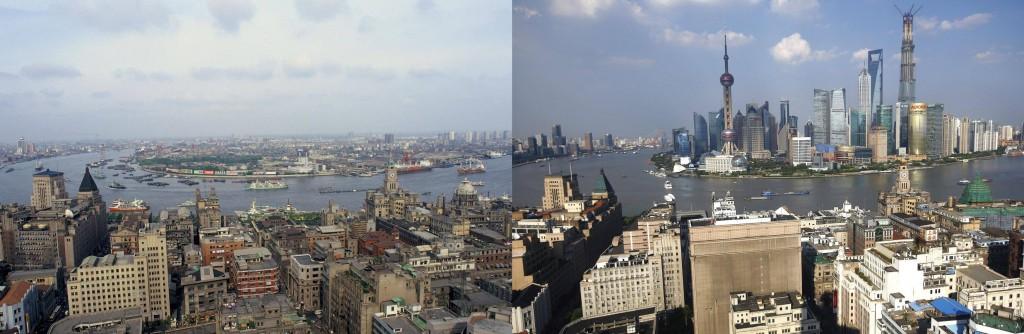 Shanghái en 1987 y 2014 - españachina.es