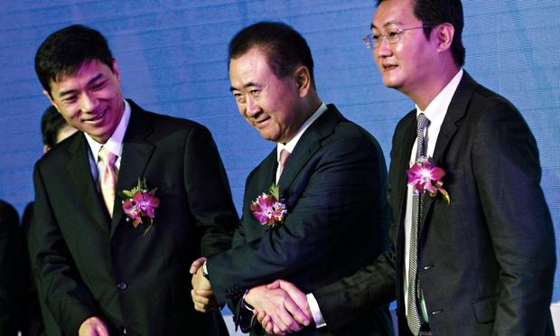 tres de los chinos más ricos a la caza de Alibaba