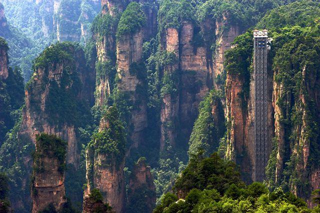 El ascensor de Bailong, en Hunan
