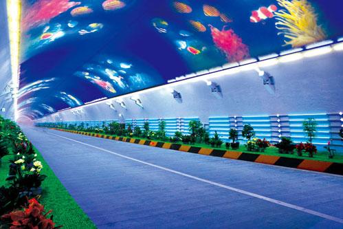 El túnel de la autopista de Zhongnan