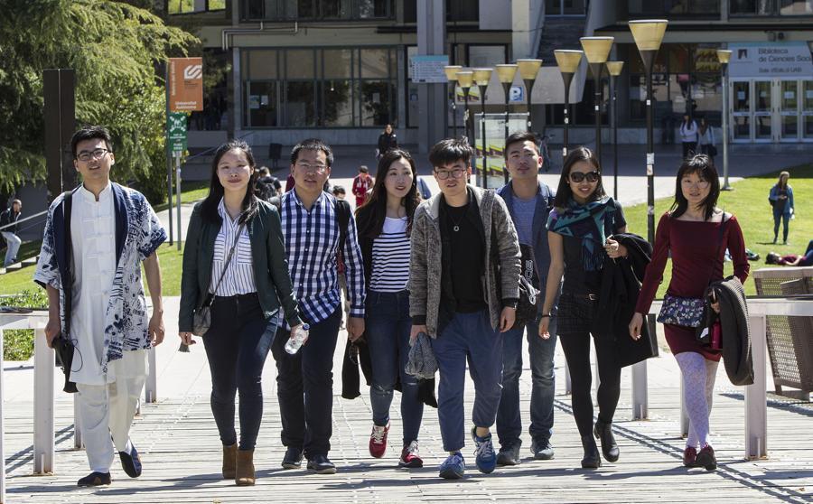 universitarios chinos en Barcelona