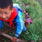 Estos niños chinos se juegan la vida para llegar a la escuela