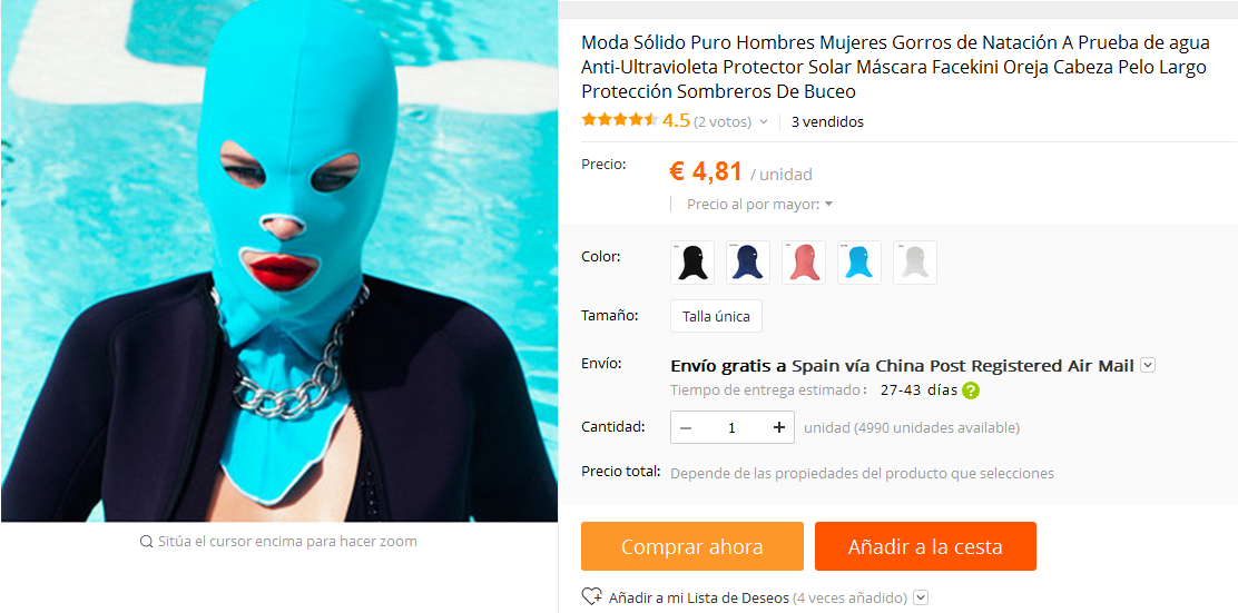 facekini aliexpress