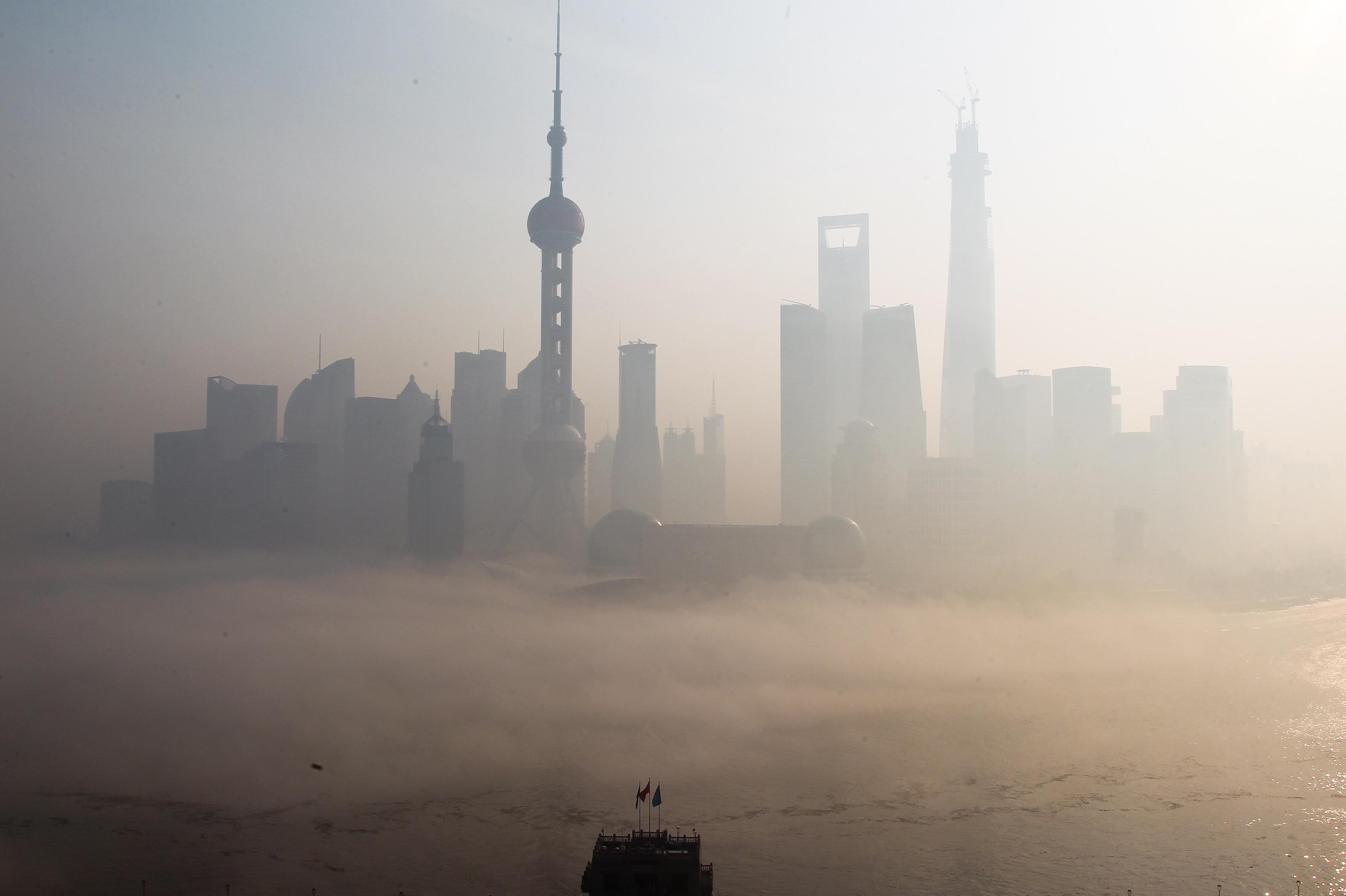 niebla toxica china shanghai