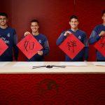 Real Madrid y Fútbol Club Barcelona felicitan el año nuevo chino