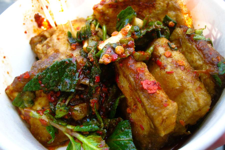 comida china tradicional tofu maloliente