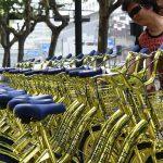 Las bicicletas compartidas doradas que han inundado China