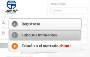 Únete a la web para llegar a China.