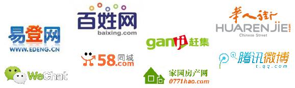 Logos de webs chinas