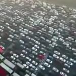 Vídeo: Descomunal atasco en China grabado por un dron